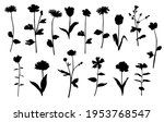 vector silhouettes of garden... | Shutterstock .eps vector #1953768547
