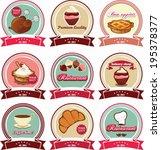 badges set for restaurants and... | Shutterstock .eps vector #195378377