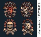 vector illustrations of a biker ... | Shutterstock .eps vector #1953798421