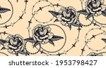 seamless pattern with flowers... | Shutterstock .eps vector #1953798427