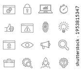 web development line icons set. ...