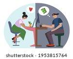 online dating scam  online...   Shutterstock .eps vector #1953815764