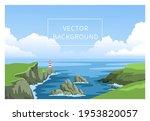 coastline landscape with...   Shutterstock .eps vector #1953820057