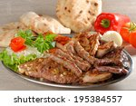 wholesome platter of mixed... | Shutterstock . vector #195384557