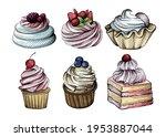 hand drawn sketch set of...   Shutterstock .eps vector #1953887044