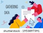 gathering data  marketing ... | Shutterstock .eps vector #1953897391