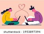 online dating  remote...   Shutterstock .eps vector #1953897394