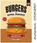 vintage food poster design with ...   Shutterstock .eps vector #1953918907