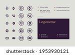 business card contact... | Shutterstock .eps vector #1953930121