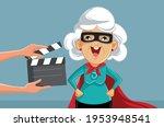 senior actress filming super... | Shutterstock .eps vector #1953948541