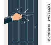 a knock on the door. the man's... | Shutterstock .eps vector #1953982261