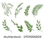 leaves icon vector illustration.... | Shutterstock .eps vector #1954006834