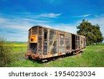 Old Wagon  Train Wagon At An...