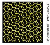 yellow geometric patterns....   Shutterstock .eps vector #1954036921