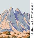 organ mountains desert peaks... | Shutterstock .eps vector #1954052521