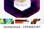vector abstract background set. ... | Shutterstock .eps vector #1954065187