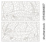 Set Of Contour Illustrations In ...