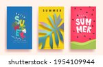 colorful summer background... | Shutterstock .eps vector #1954109944