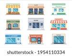 store facade shop and bank... | Shutterstock .eps vector #1954110334