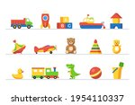 kid toy to play game in...   Shutterstock .eps vector #1954110337