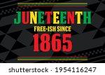 juneteenth freedom day. african ... | Shutterstock .eps vector #1954116247