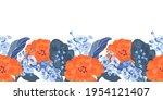 vector floral seamless border....   Shutterstock .eps vector #1954121407