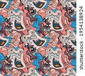 abstract psychedelic unusual...   Shutterstock .eps vector #1954138924