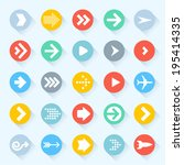 vector arrow icon set.  | Shutterstock .eps vector #195414335