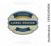 vintage style label... | Shutterstock .eps vector #1954145404