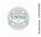 vintage style label... | Shutterstock .eps vector #1954145407