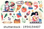 set of illustrations related to ... | Shutterstock .eps vector #1954154407