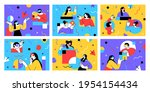 set of flat style business... | Shutterstock .eps vector #1954154434