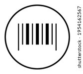 barcode sample in circle thin...