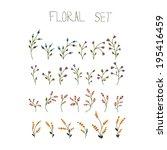vector flower set    Shutterstock .eps vector #195416459