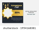 ramadan sale social media post... | Shutterstock .eps vector #1954168381