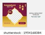 ramadan sale social media post... | Shutterstock .eps vector #1954168384