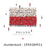 a large group of people are... | Shutterstock .eps vector #1954184911