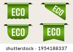 green eco tag label shopping... | Shutterstock .eps vector #1954188337