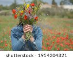portrait of young woman in... | Shutterstock . vector #1954204321