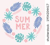 summer greeting card with...   Shutterstock .eps vector #1954204417