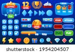 mobile app  game interface...   Shutterstock .eps vector #1954204507