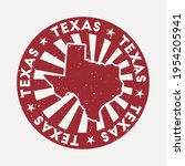 texas stamp. travel red rubber... | Shutterstock .eps vector #1954205941