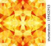 Orange Abstract Crystal Vector...