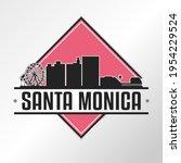 Santa Monica  Ca  Usa Skyline...