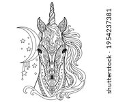 head of unicorn. abstract...   Shutterstock .eps vector #1954237381