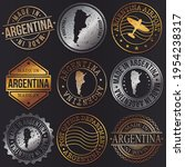 argentina business metal stamps.... | Shutterstock .eps vector #1954238317