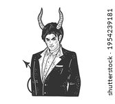 devil businessman man sketch... | Shutterstock . vector #1954239181