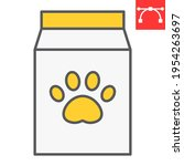 dog food pack color line icon ... | Shutterstock .eps vector #1954263697