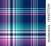 plaid pattern bright in blue ... | Shutterstock .eps vector #1954277254