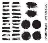 vector set of grunge artistic...   Shutterstock .eps vector #1954285627